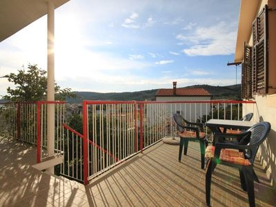 Photo for Three bedroom apartment with terrace and sea view Slatine (Čiovo)