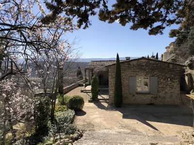 Photo for NEW in Gordes, contemporary villa with breathtaking views of the Luberon