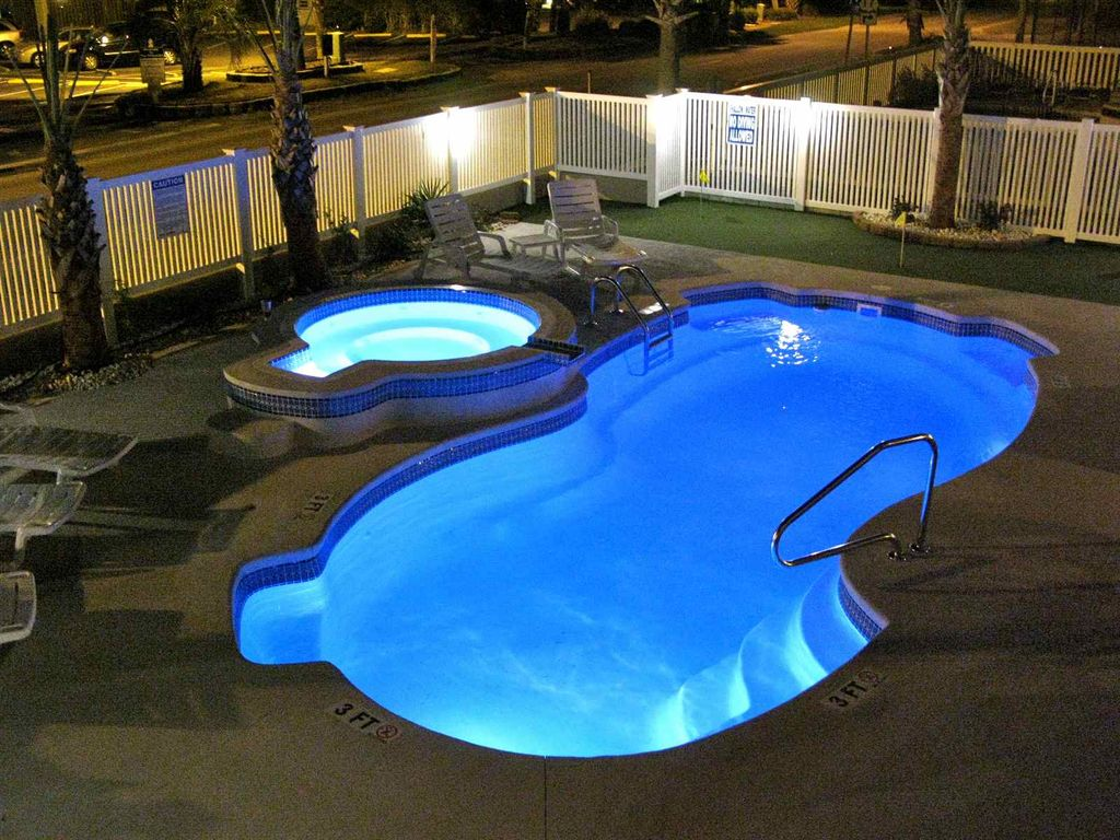 salt water pool design. Crescent Beach House Rental Night View Beautiful Lights In The Pool And Hot Tub With Cost Of Salt Water Design D