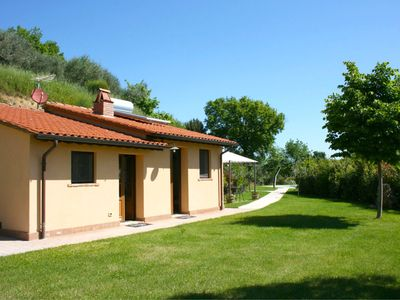 Photo for Romantic house for 2. with private pool and outdoor hot bath. Near Montepulciano