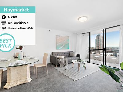 Photo for KOZYGURU | Haymarket | Sydney CBD | DESIGNER 1 BED 1 BATH APT | 6A