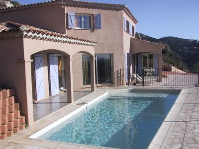 Photo for Villa for 10 people with swimming pool and sea view