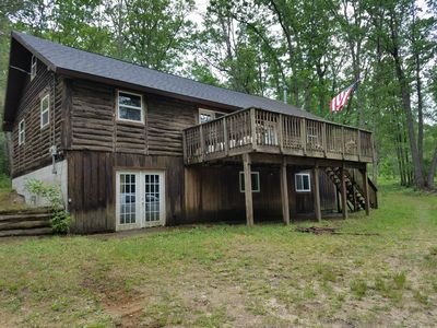 Photo for Rustic 4 Bedroom Log Cabin in the Woods