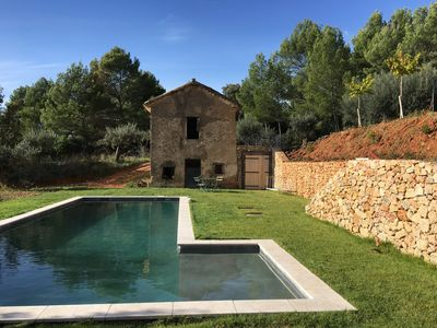 Photo for House Aups with pool, in the middle of the olive trees and facing the Massif des Maures