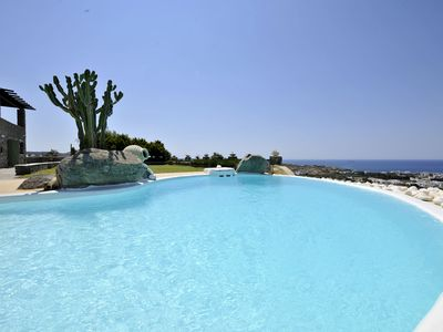 Photo for Villa Carmen with 5 br and private pool close to Parikia
