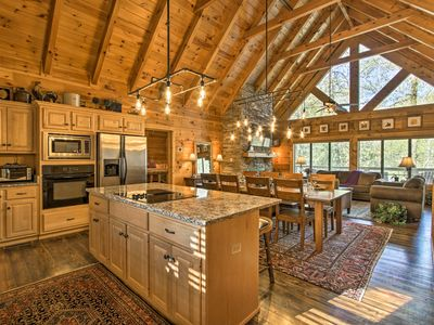 Photo for Upscale Sevierville Cabin w/Deck, Hot Tub & Games!
