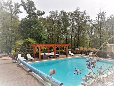 Photo for APARTMENT IN VILLA TYPE F4 IN GARDEN WITH POOL