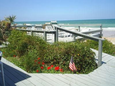 Your own private oceanfront deck