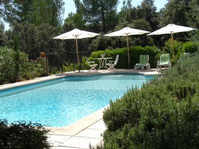 Photo for House in the Luberon, Provence, fabulous pool, views and privacy; near golf