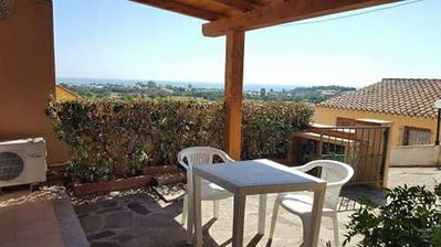 Photo for Comfortable studio with beautiful sea view 800 meters from the beach