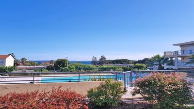 Photo for Apartment T3 - Sea view - Swimming pool residence - Air conditioning - Wifi - Les Issambres