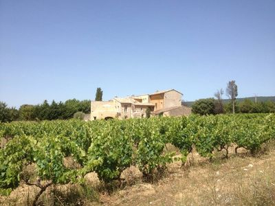 Photo for Old Provencal farmhouse in the vineyards of the Luberon