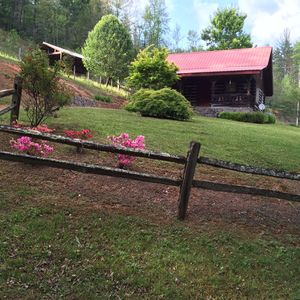 Photo for Log Cabin Inn --Vacation Rental on acreage and trout water out front