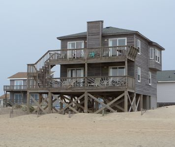 Photo for As Close As You Can Get! Oceanfront Nags Head Home With Panoramic Ocean Views