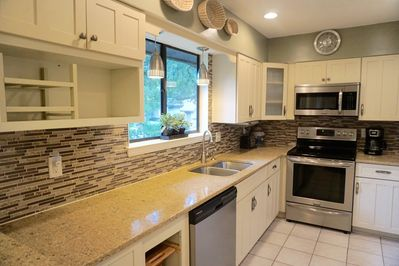 Well stocked renovated kitchen