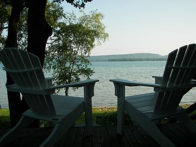 Photo for Waterfront Cottage and Guest House on Big Platte Lake Near Sleeping Bear Dunes!