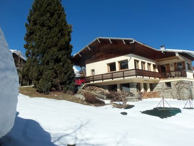 Photo for chalet 135m² (7 people max.) Mont-Blanc chain view, balcony, terrace, garden