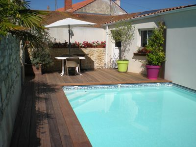 Photo for Entire House with Private pool, terrace and garage attached to LA ROCHELLE
