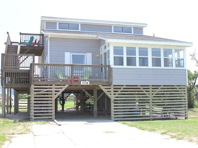 Photo for Newly remodeled home steps from the beach in South Nags Head