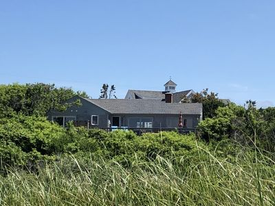 Back  of cottage from beach