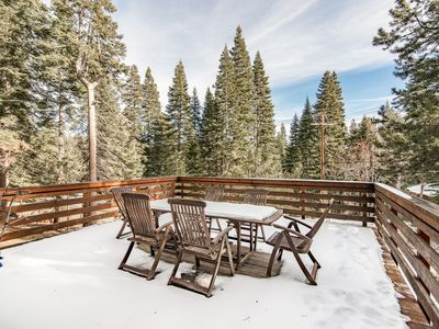 Photo for 3BR Alpine Charmer w/ Large Deck & 3 Fireplaces - 5 Mins to Downtown Truckee