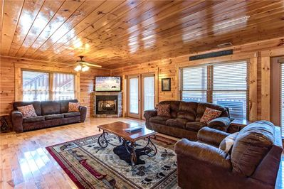 One of the two living rooms - That's right: Hemlock Inn has two spacious living rooms on its main floor—perfect for a lodge that can sleep as many as thirty-eight people.