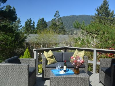 Photo for One Level Beach Home: Peek of the Ocean/Neahkahnie Mt view - $180.00 summer rate