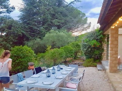Photo for Maison du Verger, charming villa + detached house, swimming pool Lourmarin