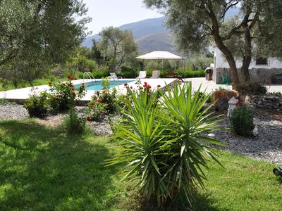 Photo for A 2 bed country  house with large garden and swimming pool