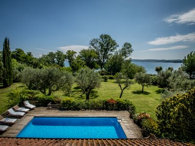Photo for Relax and Culture: Villa near Rome  on the lake shore, with private beach