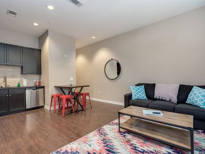 Photo for Stylish 1-Bedroom Apartment in Uptown w/Pool, Gym