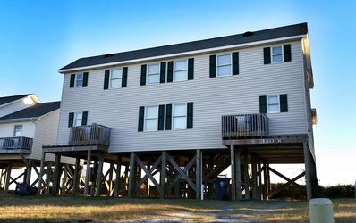 "Photo for ""Happy West"" at Holden Beach - This Beachfront Duplex is a Bargain on the East End featuring interior decor updates!  Rent both sides for double the fun!"