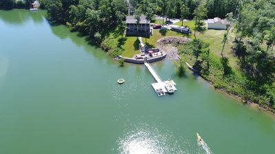 Photo for Lakefront Home w/ Best Sunset views on the lake. Hot Tub & HUGE outdoor spaces