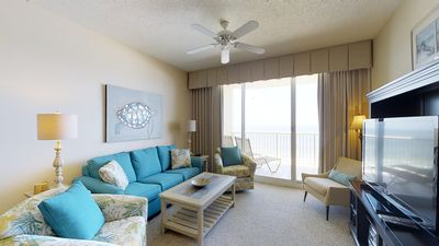 Photo for Newly Decorated Gulf Front Condo-Clubhouse Amenities Included! Doral 903