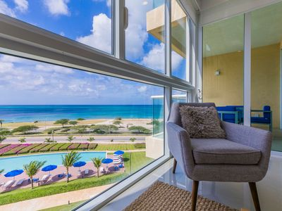 Photo for Beach is calling, SEA you Soon. Ocean View Condo for 6. Blue-516