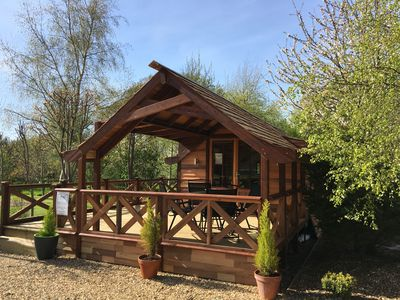 Photo for Luxury Cedar Lodge Nr Bath & Bristol