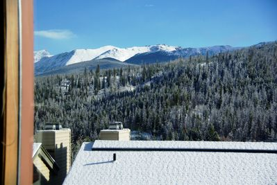 View from living room window of the Continental Divide (Indian Peaks Range)