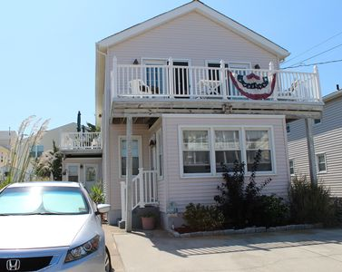 Photo for North Wildwood Townhouse, One Block To The Beach. Ocean Views From Deck.