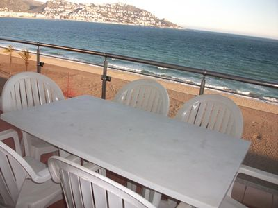Photo for Very well equipped, bright and sunny, located on the seafront in Santa Margarita.