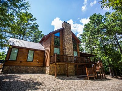 Photo for Best Kept Secret  3BR,3Bth  Luxury Cabin  Sleeps 11 8-Person Hot Tub Pool Table