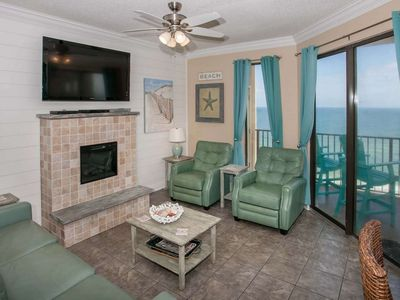Photo for Gulf-front west corner | In/Outdoor pools, Hot tub, Sauna, Fitness, Tennis, BBQ | Free golf, fishing