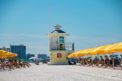Steps away from Clearwater beach