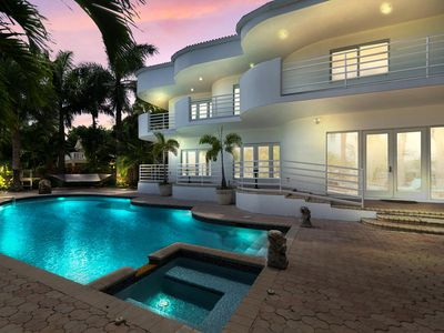 Photo for New Listing! Opulent Paradise w/ Private 100' Dock, Huge Pool, Spa & Gym