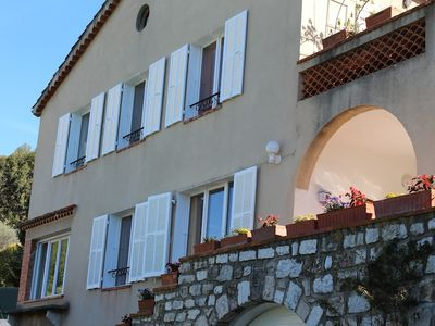 Photo for Lovely holiday apartment pool garden  terrace within walking distance Vence