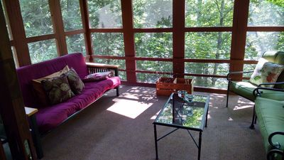 Everyone's favorite place, the screened in porch