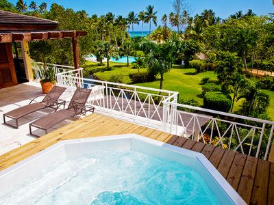 Indulge in the  intimacy of a spectacular beachfront penthouse in Las Terrenas