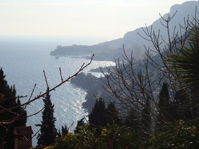 Photo for View over the sea and Monaco in an old village