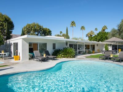 Photo for 20% Weeknight Discount! Mid-century home with classic Hollywood Regency aesthetic, sparkling pool an