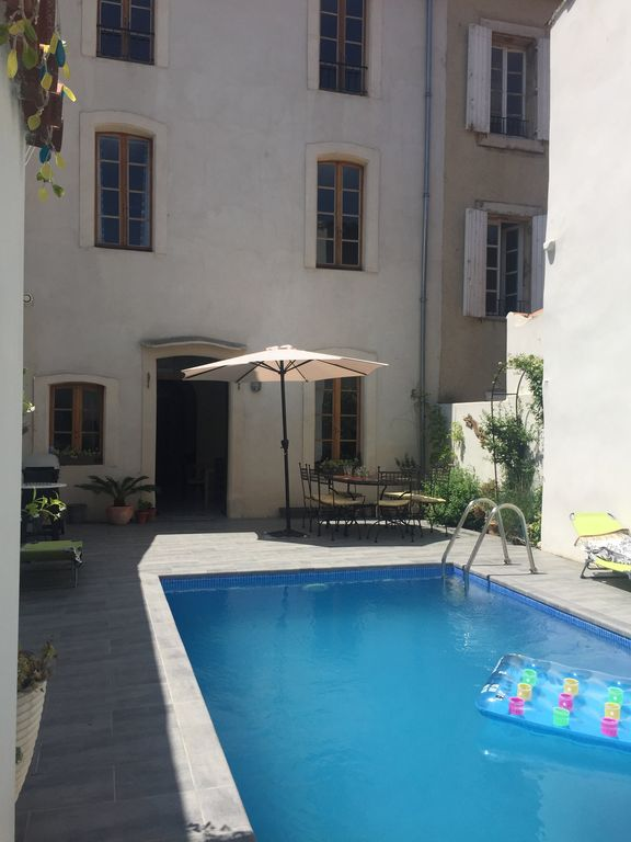 8d2bf6ad6a Stylish house with heated pool in centre of medieval Bize next to river  swimming - Bize-Minervois