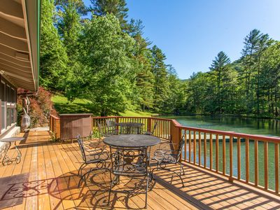 Photo for Bull Creek Ranch 2BR - Peaceful 3 Acres on Private Lake w/ Dock & Volleyball